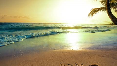 por-do-sol-na-praia-wallpaper-480x272